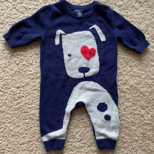 Baby Gap baby boy 0-3 months baby blue coverall